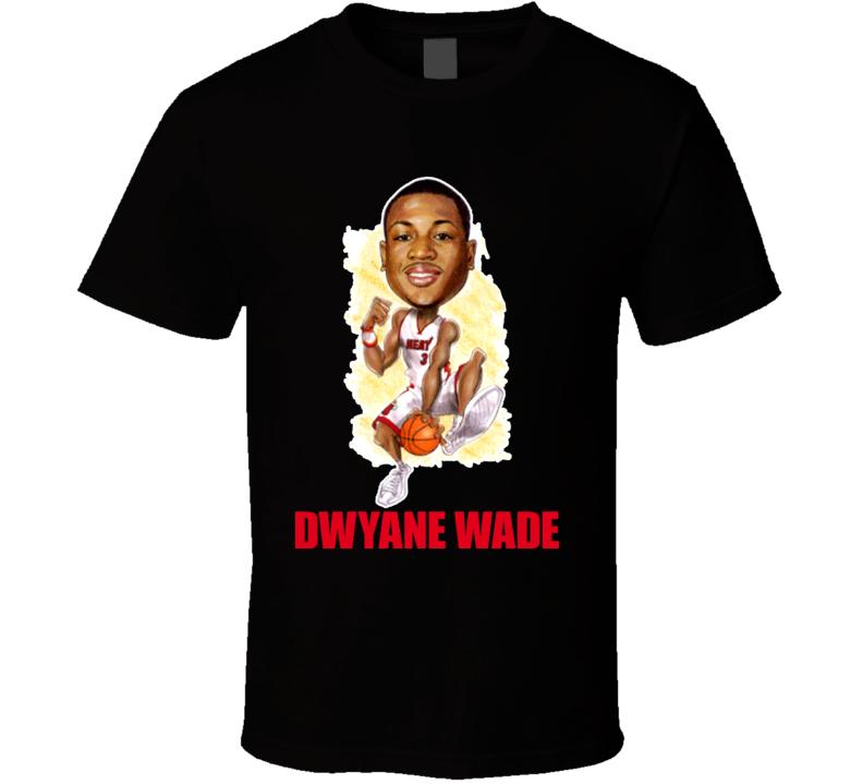 Dwyane Wade Classic Basketball Miami Caricature T Shirt