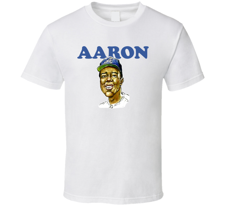 Hank Aaron Baseball Player Classic Legend Caricature T Shirt
