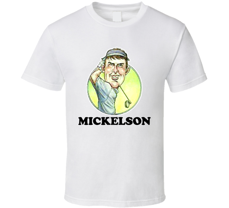 Phil Mickelson Professional Golfer Retro Caricature T Shirt