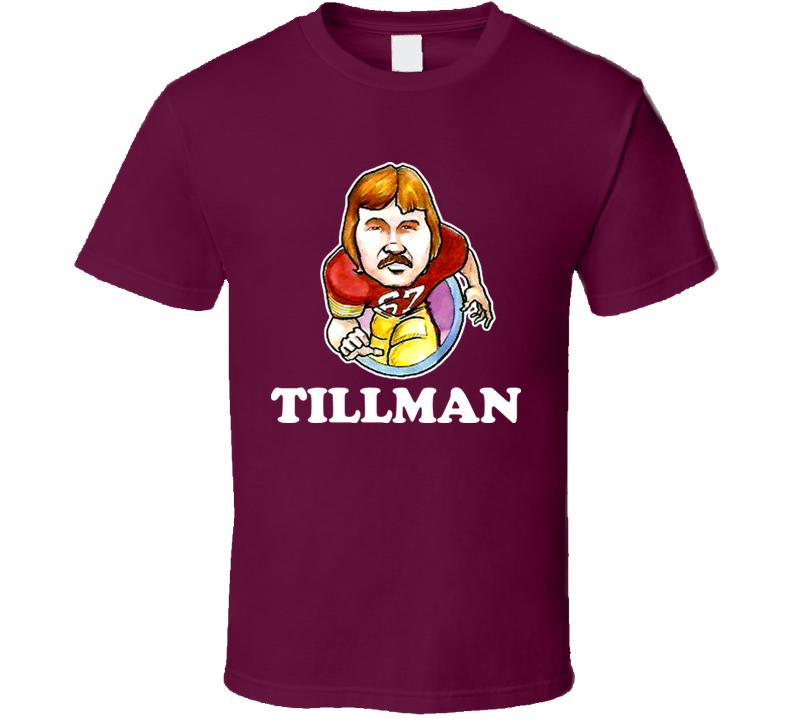 Rusty The King Tillman Washington Football Retro Caricature T Shirt