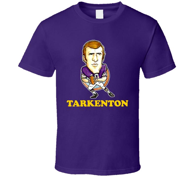 Fran Tarkenton Minnesota Football Legend Viking Retro Caricature T Shirt