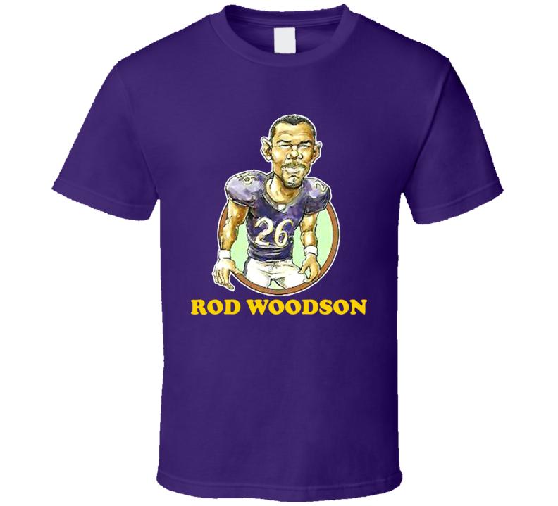 Rod Woodson Minnesota Football Retro Caricature T Shirt