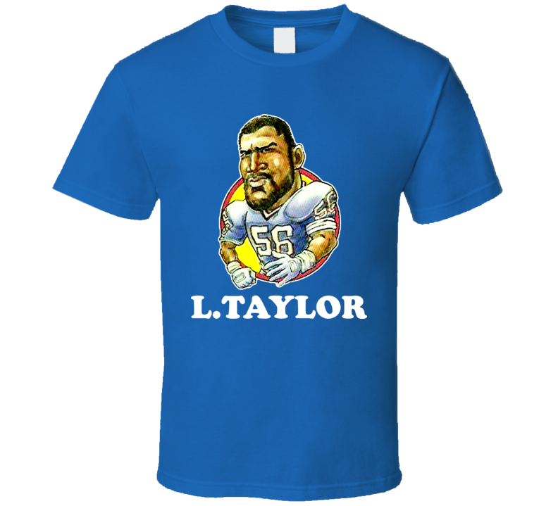 Lawrence Taylor New York Retro Vintage Football Cartoon T Shirt