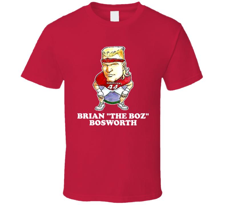 Brian Boz Bosworth Retro Oklahoma Football Caricature T Shirt