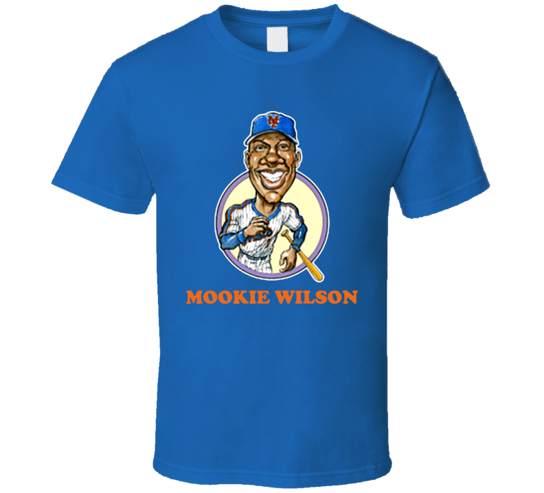Mookie Wilson New York Baseball Retro Caricature T Shirt