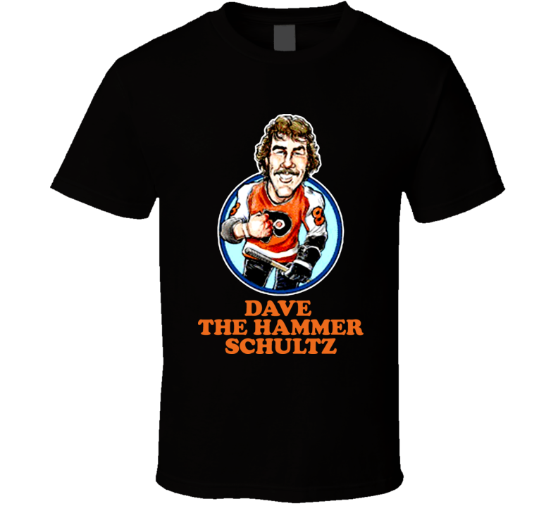 Dave The Hammer Schultz Philadelphia Hockey Retro Caricature T Shirt