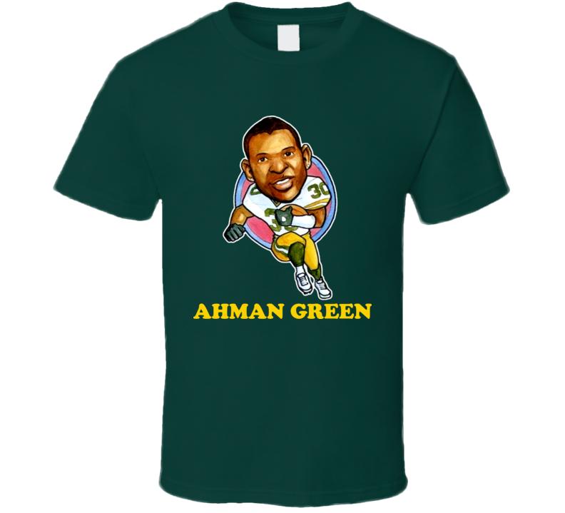 Ahman Green Green Bay Football Caricature T Shirt