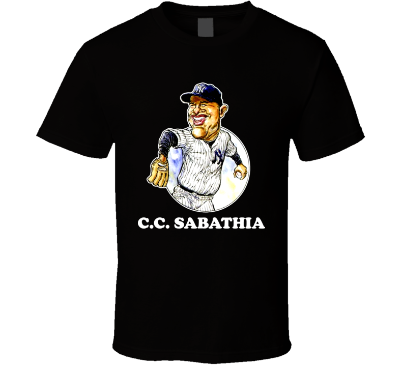 CC Sabathia New York Bronx Pitcher Baseball Caricature T Shirt