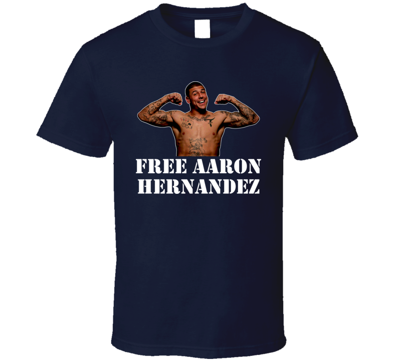 Free Aaron Hernandez New England Patriots Tight End Football T Shirt
