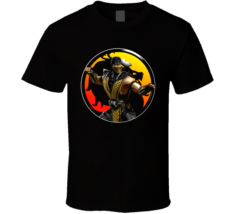 Scorpion Mortal Kombat Classic Video Game Fighter T Shirt
