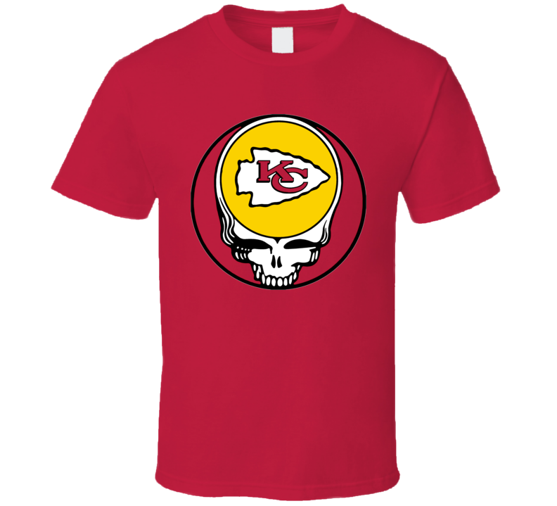 Grateful Kansas City Dead Lot Cool Chiefs Football Red T Shirt