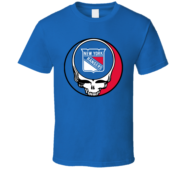 Grateful New York Steal Your Face Dead Rangers Hockey T Shirt