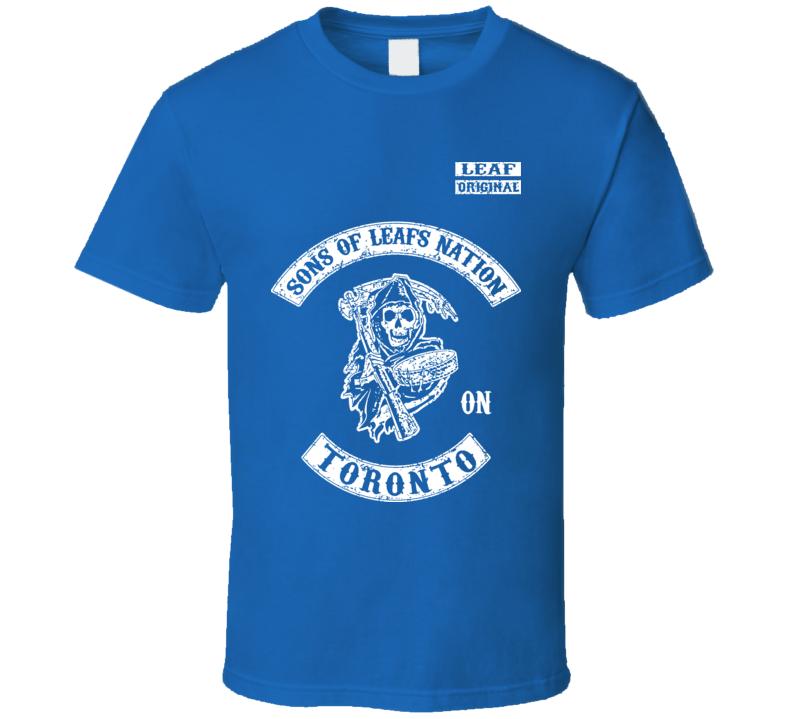 Sons Of Leafs Nation Hockey Toronto T Shirt