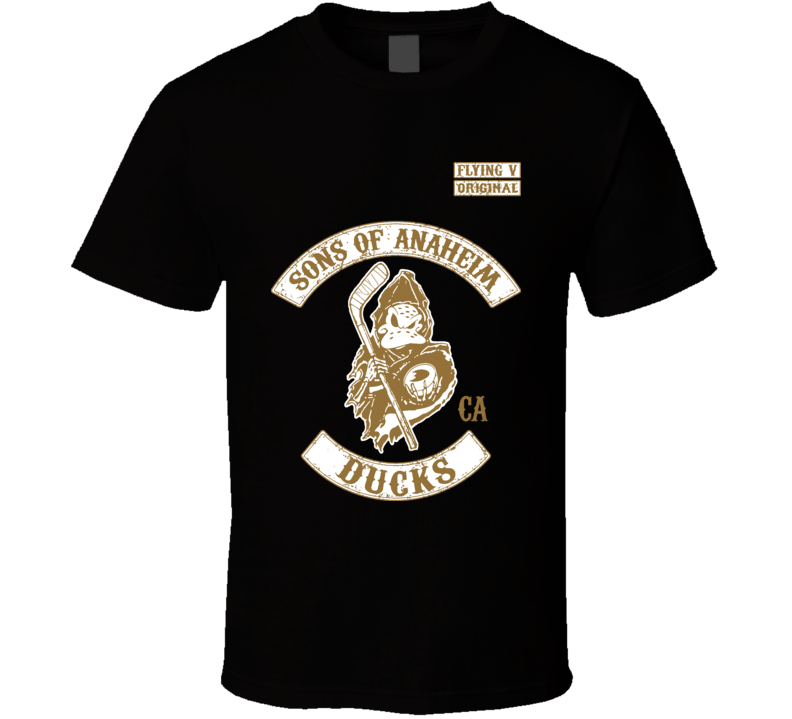 Sons Of Anaheim SOA Style California Ducks Hockey T Shirt
