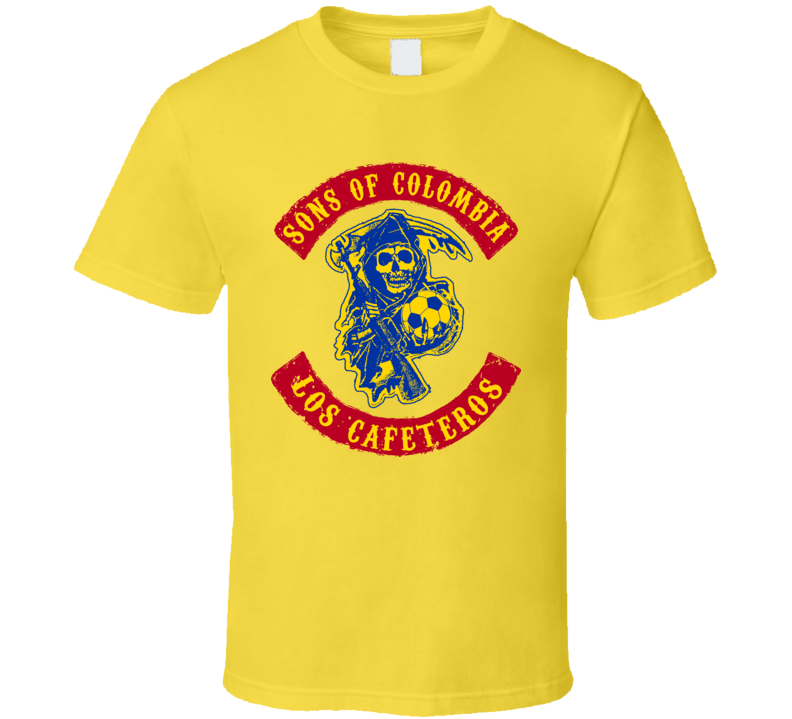 Sons Of Colombia Football Soccer Hooligan T Shirt