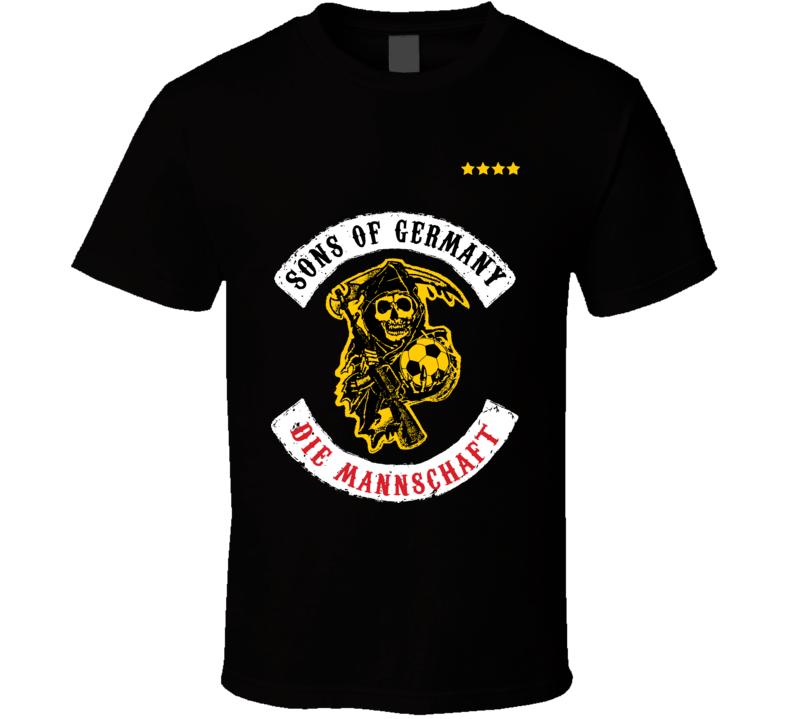 Sons Of Germany Football  Soccer Hooligan T Shirt