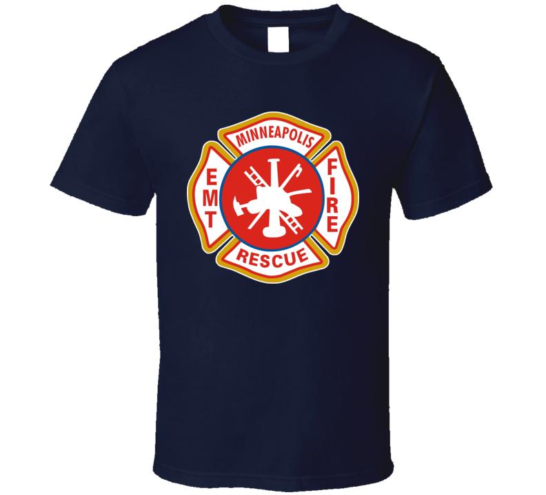 Minneapolis Minnesota Fire Department Fire Fighter T Shirt