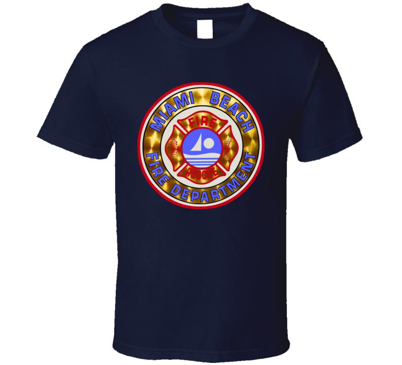Miami South Beach Fire Department Firefighter T Shirt