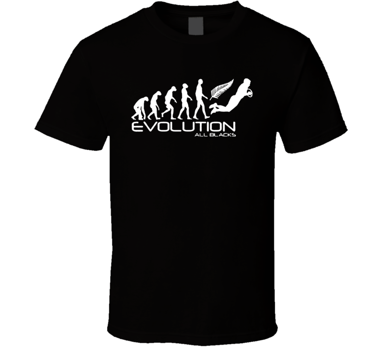 Evolution Of New Zealand All Blacks National Rugby Team T Shirt