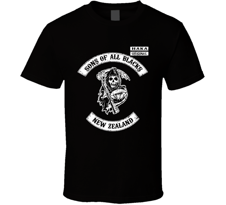 Sons Of New Zealand All Blacks Rugby Team World Supporter T Shirt