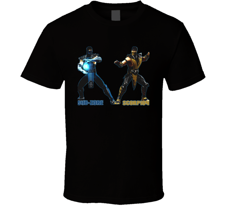 Sub Zero Vs Scorpion Mortal Kombat Video Game T Shirt