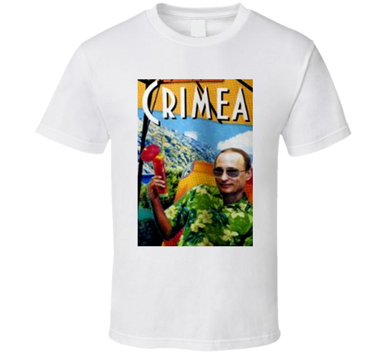 Vladimir Putin Greetings From Crimea Moscow Russian Political T Shirt
