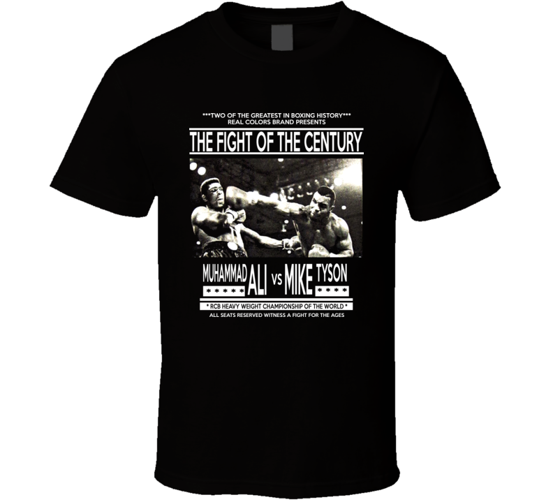 Muhammad Ali Mike Tyson Fight Of The Century Boxing Retro Vintage T Shirt