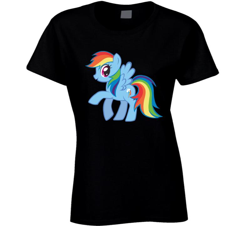 My Little Pony Rainbow Dash Ladies T Shirt