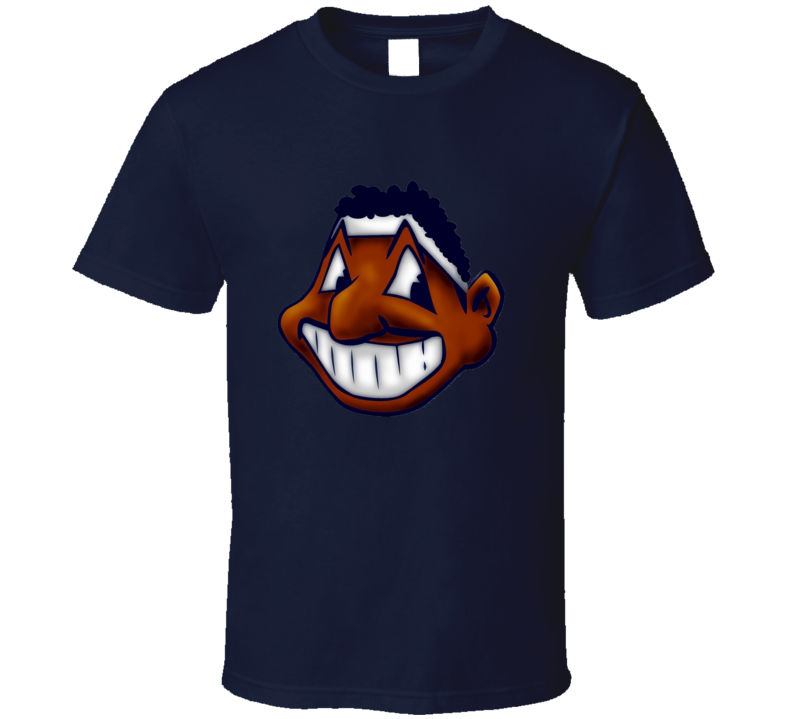 Cleveland African Americans Caucasian Funny Chief Wahoo Indian Baseball T Shirt