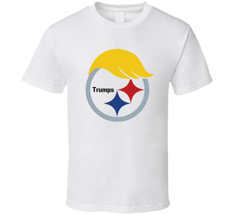 Pittsburgh Steeler Donald Trump Hybrid Logo T Shirt