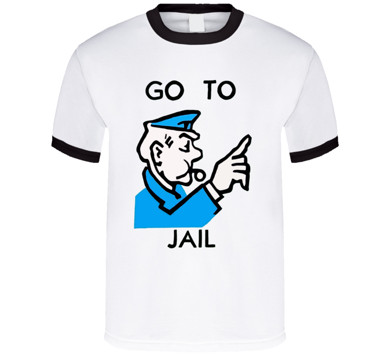 Go To Jail Monopoly Logo T Shirt