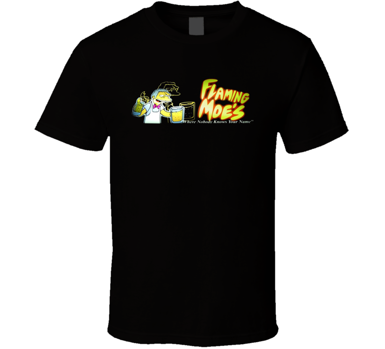 Flaming Moe's Cartoon Character T Shirt