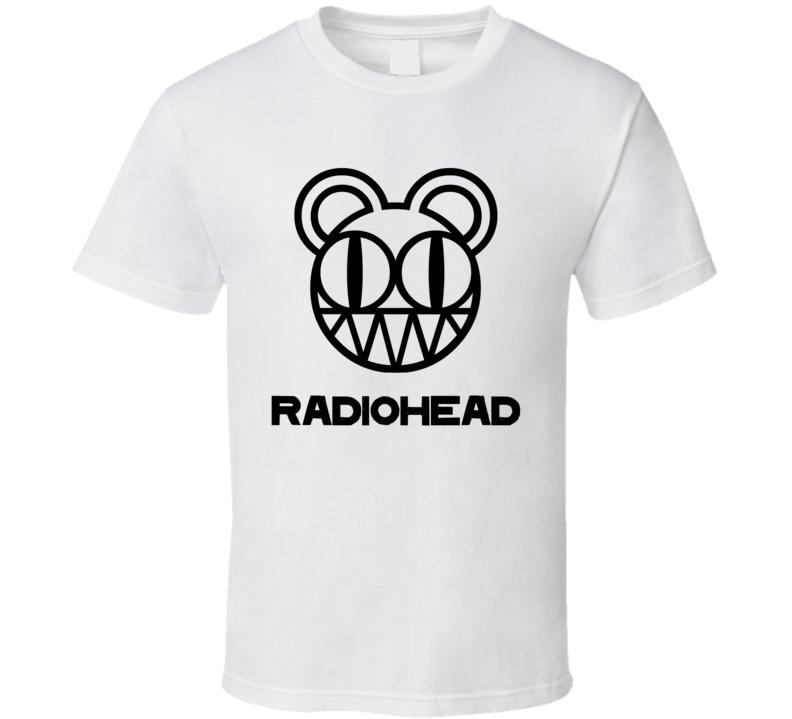 Radiohead Rock Band Music Logo White T Shirt