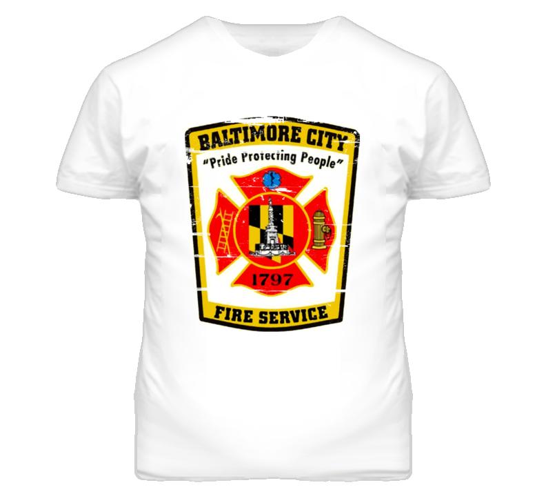 Baltimore City Fire Department T Shirt
