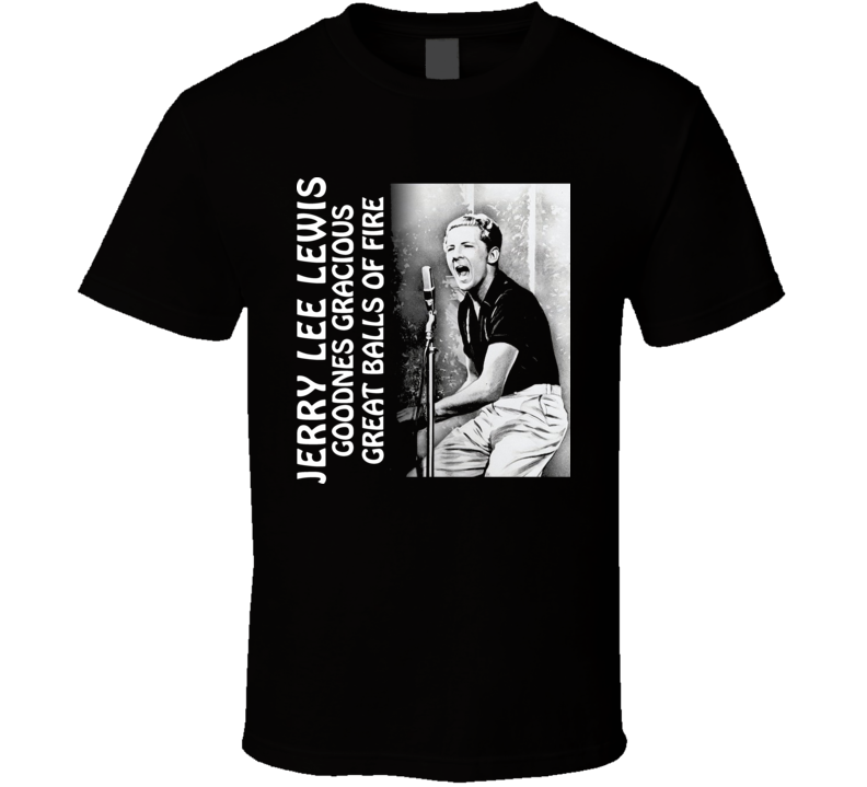 Jerry Lee Lewis Classic Country Singer T Shirt