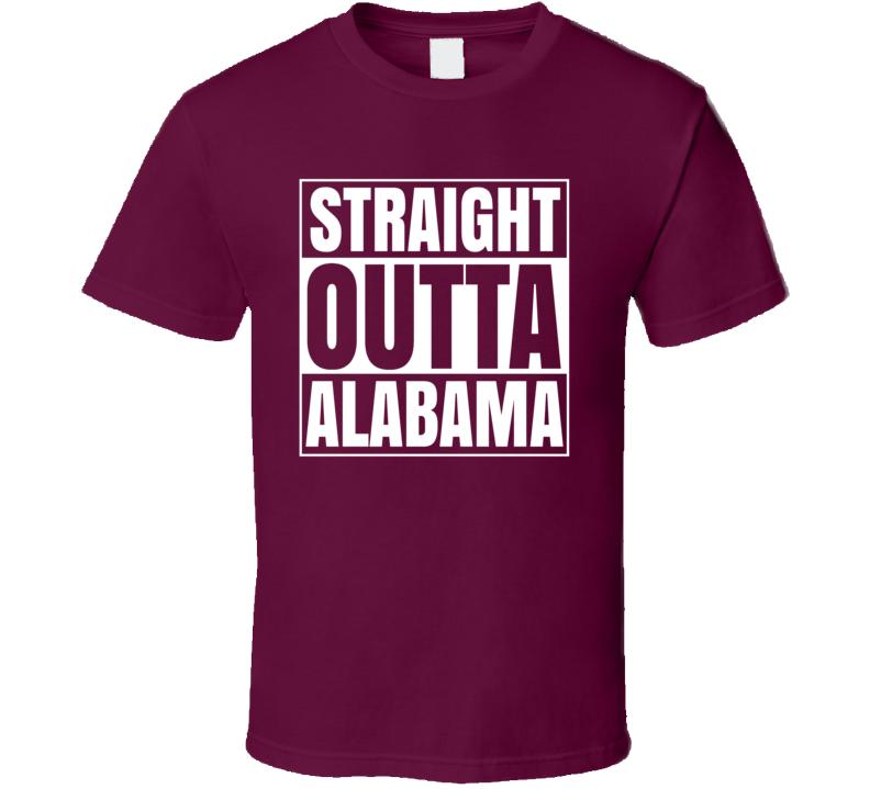 Straight Outta Alabam College National Final Football T Shirt