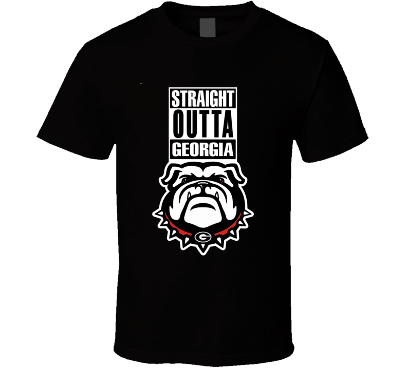 Straight Outta Georgia Compton Style College Football National T Shirt