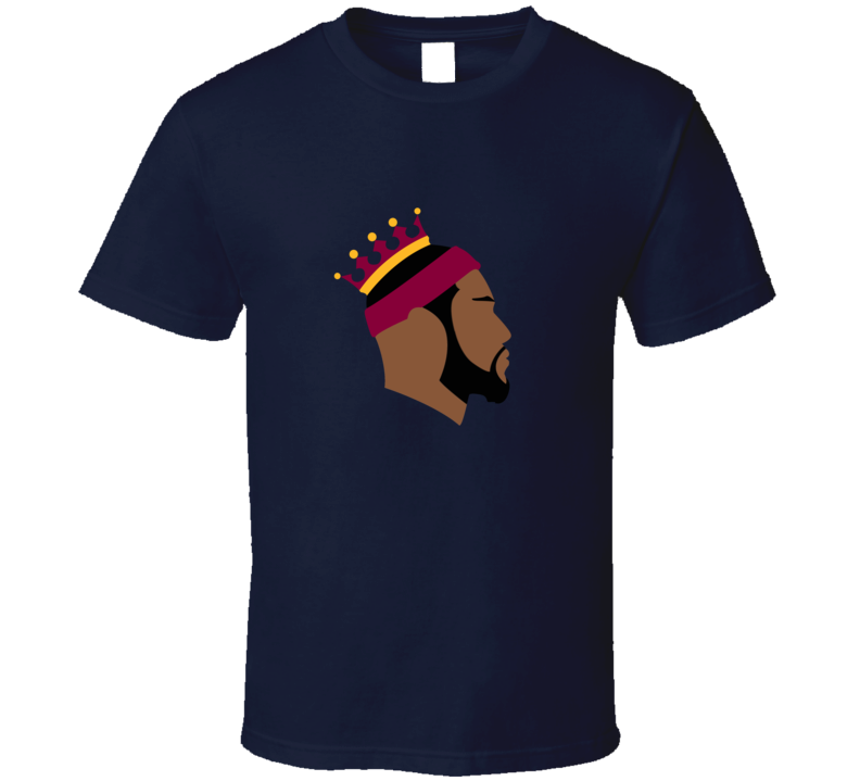 Lebron James King Cleveland Silhouette Basketball T Shirt