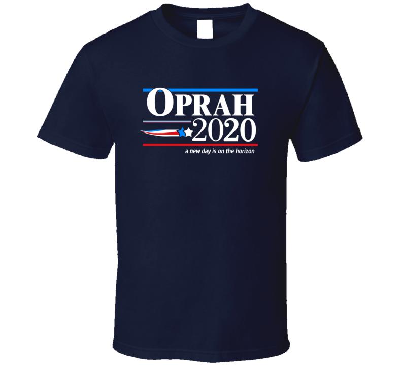 Oprah 2020 Presidential Political Navy T Shirt