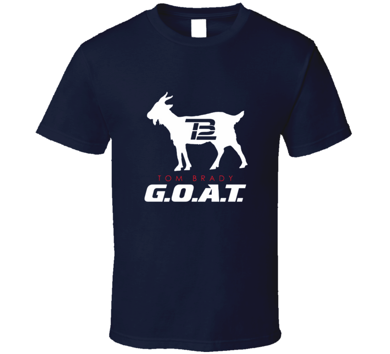 Tom Brady G.o.a.t New England Football T Shirt