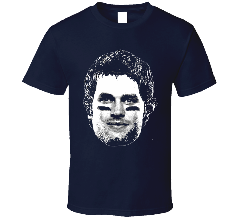 Tom Brady Big Head Silhouette New England Football T Shirt