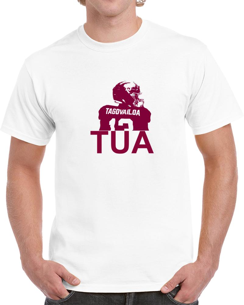Tua Tagovailoa Alabama Qb Touchdown  Sihouette T Shirt
