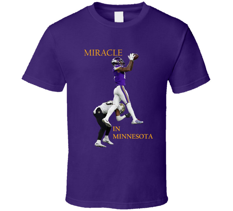 Miracle In Minnesota The Catch Stefon Biggs Football T Shirt
