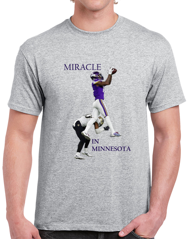 Stefon Diggs Miracle In Minnestoa Keenum The Catch Football T Shirt
