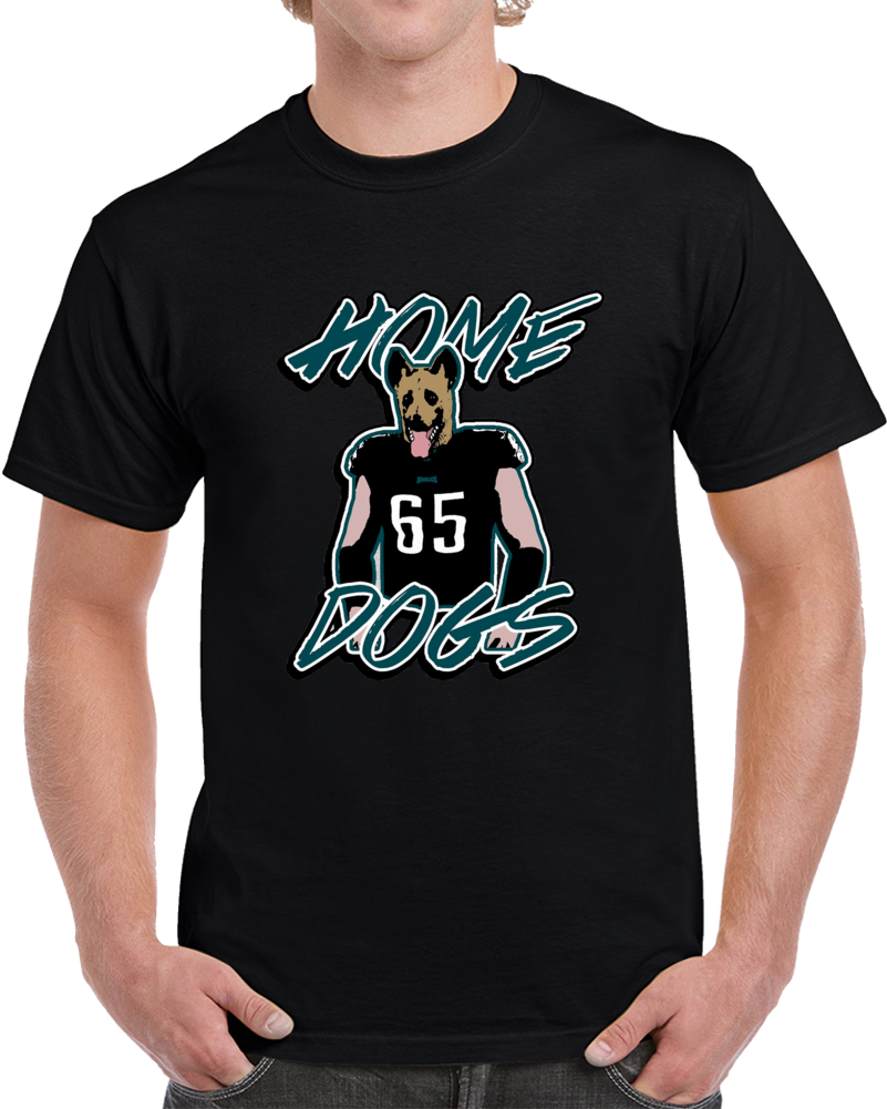 Philadelphia Lane Johnson Home Doggs Black Football T Shirt