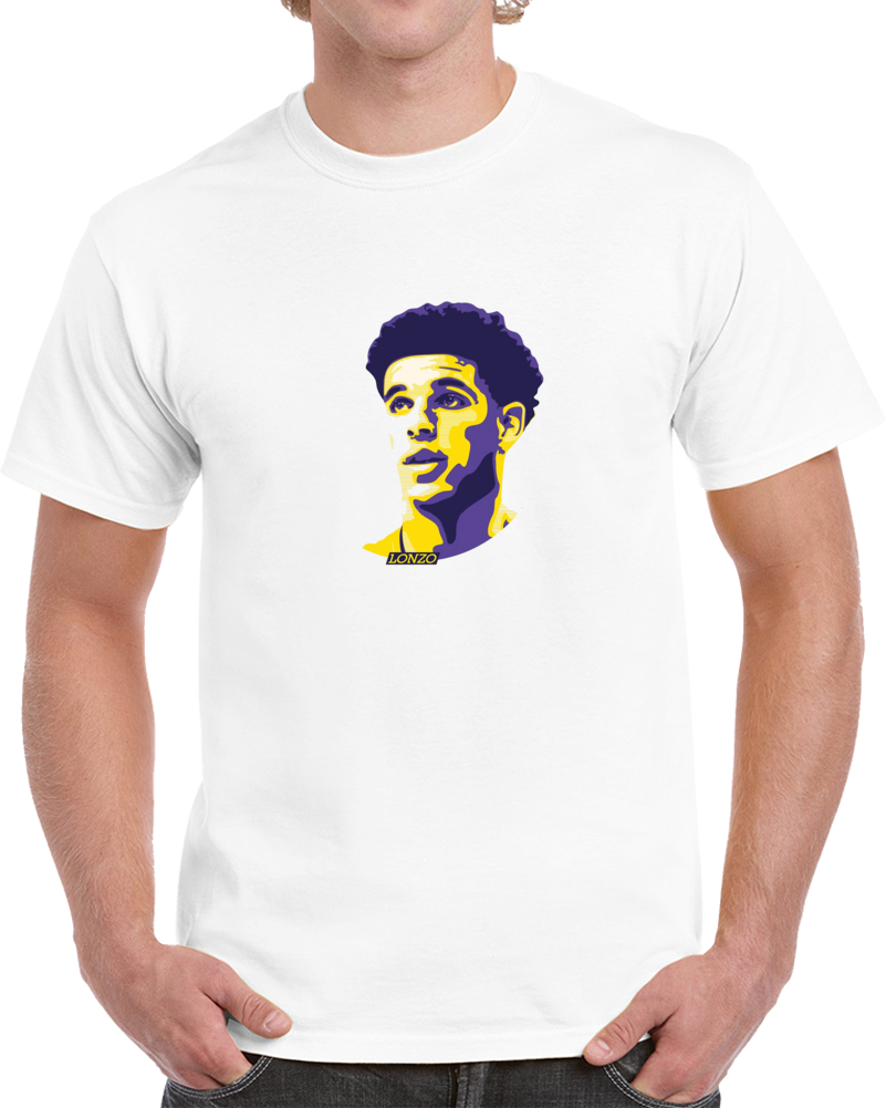Lonzo Ball Los Angeles Big Head Silhouette Basketball T Shirt