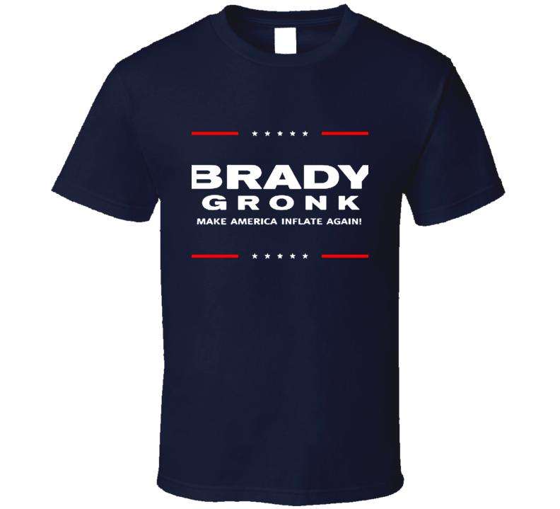 Tom Brady Rob Gronkowski For President New England Football T Shirt