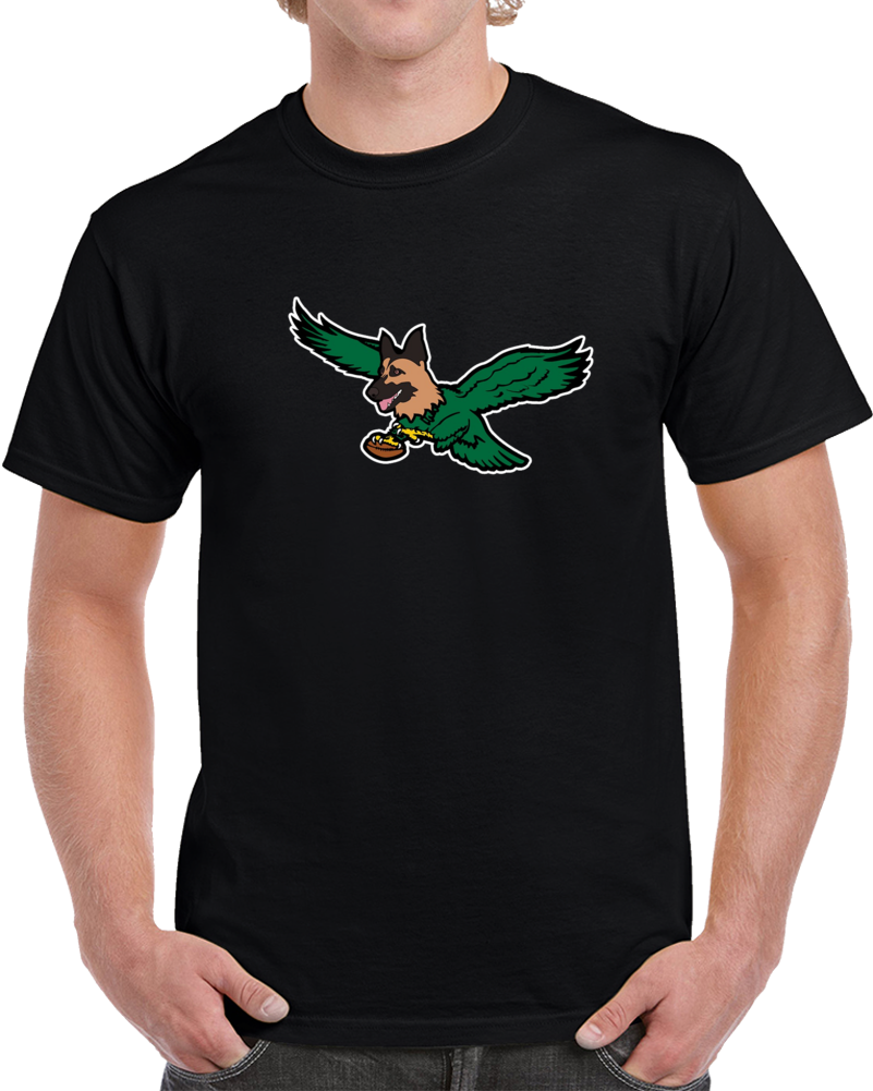 Philadelphia Philly Under Dog Bird Hybrid Logo Football T Shirt