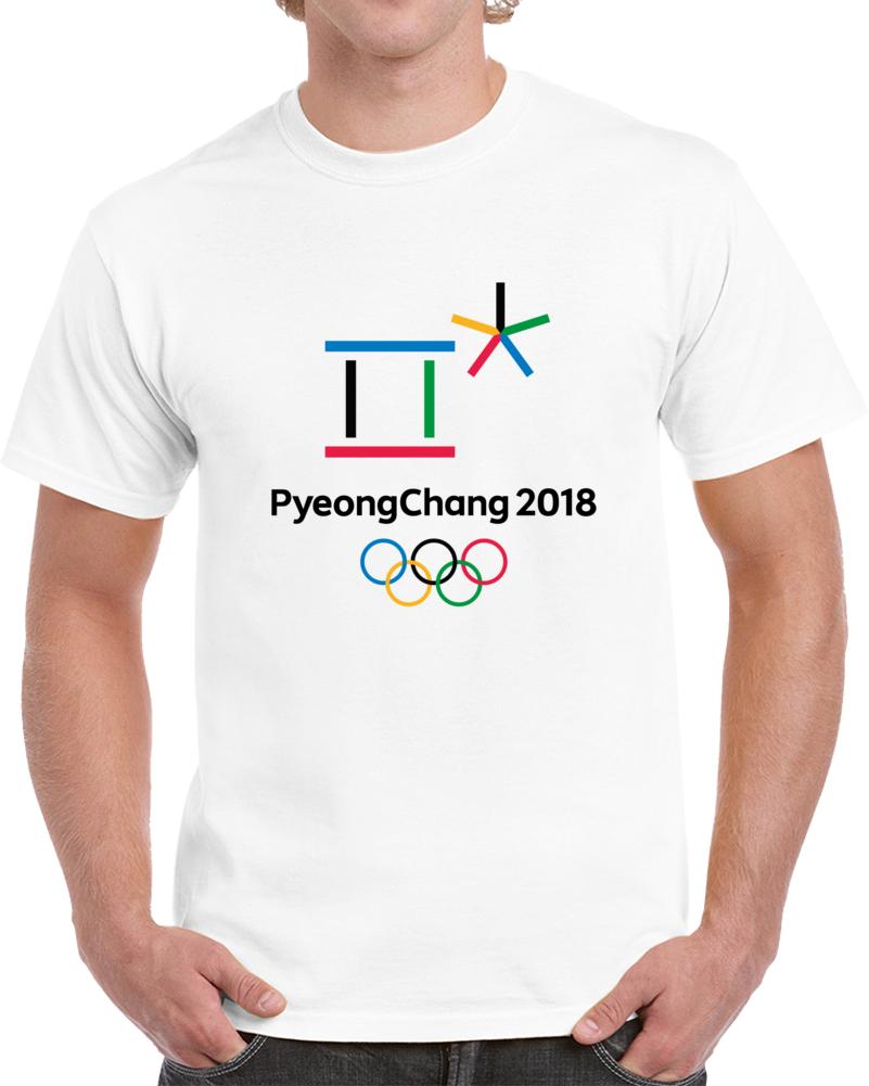 Pyeongchang 2018 Winter Olympics Korea Logo T Shirt
