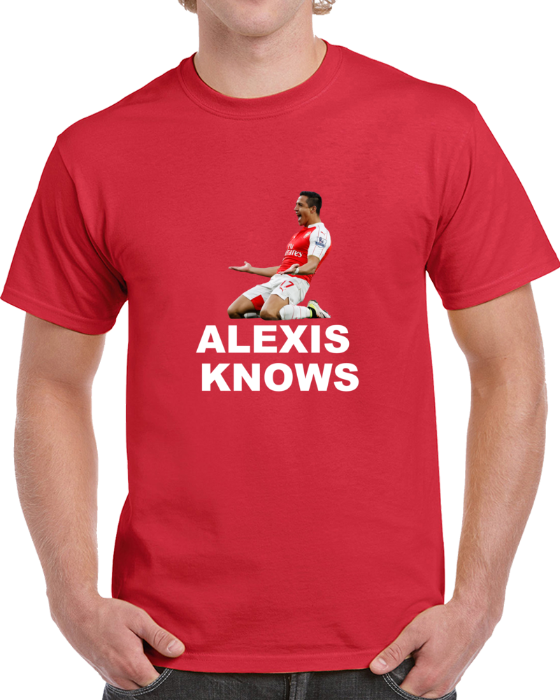 Alexis Sanches Knows Bo Knows Style Soccer Football T Shirt